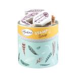 Encreur et 32 tampons Stampo Scrap Plumes